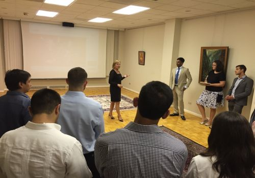 Embassy (July 20, 2015): HE Ambassador of B&H Jadranka Negodic welcomed young members of the ROTARACT Club/Rotary Youth at the Embassy of B&H